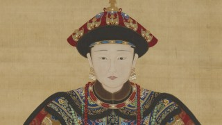Detail image, Portrait of a Manchu Noblewoman; Hanging scroll; Qing dynasty, probably 19th century; Ink and color on silk; China; Purchase — Smithsonian Collections Acquisition Program and partial gift of Richard G. Pritzlaff; Arthur M. Sackler Gallery S1991.58
