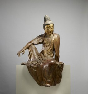 Bodhisattva with his arm on his knee