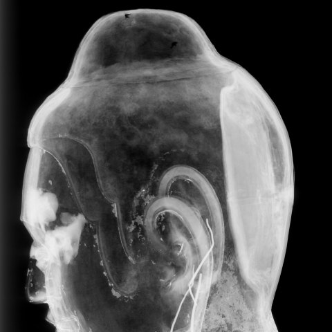 side view xray of the freer buddha
