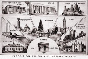 Posters of the international pavilions at the Paris International Colonial Exposition