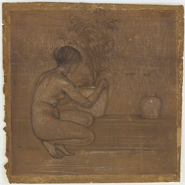 Crouching Figure: Study for The White Symphony: Three Girls