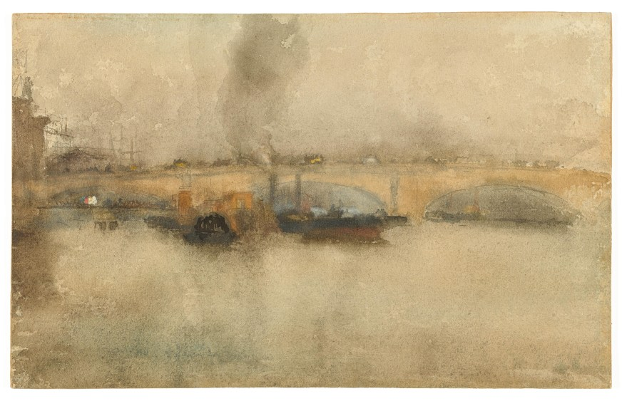 London Bridge 1881 Watercolor over graphite on rough, wove paper F1905.115