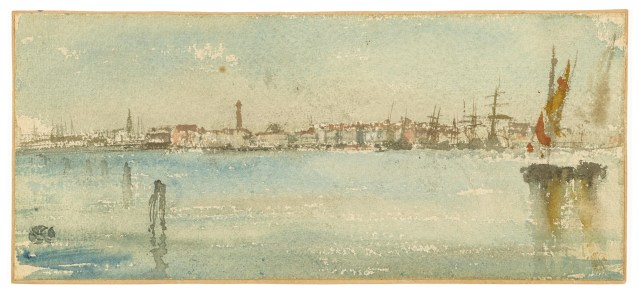 Venice Harbor 1879–80 Watercolor on rough, wove paper F1905.118
