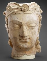 Head Afghanistan, 300-400 Stucco with traces of paint Height: 53 cm. Arthur M. Sackler Gallery Gift of Arthur M. Sackler, S1987.951