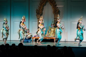 A traditional Cambodian dance performance.