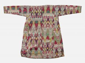 A woman's robe from Central Asia, dating between 1800 and 1850.