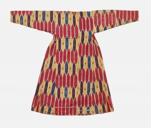 A woman's robe from Central Asia, dating between 1850 and 1900.