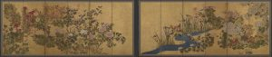 A pair of six-panel screens from Japan's Edo period, 18th century.
