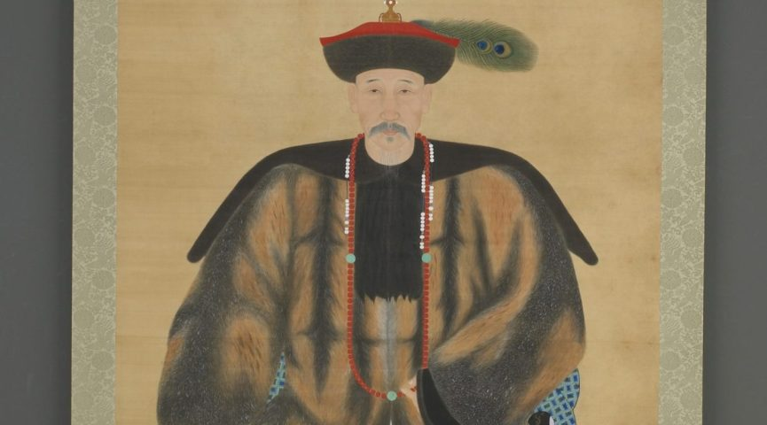painting of a man sitting in a chair with fine clothes