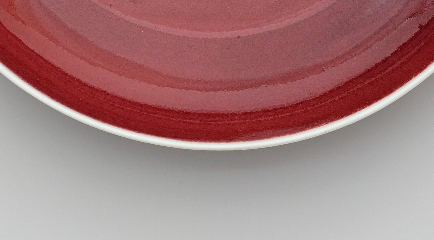 close up of red pottery