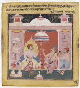 A watercolor painting of Shri Raga from the Chawand Ragamala, dating from 1591.