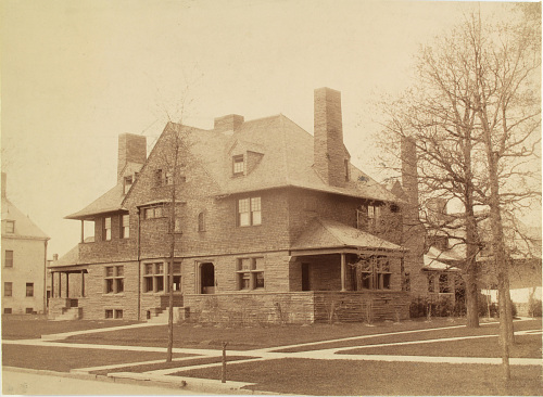 Photograph of Charles Lang Freer's house in Detroit, Michigan, circa 1892-1918