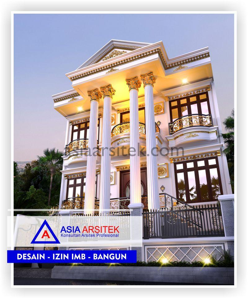 Rencana Desain Rumah Classic Klasik Di Jakarta-Tangerang-Bogor-Bekasi-Bandung-Jasa Konsultan Desain Arsitek Profesional - Desain Rumah Mewah - Arsitek Gambar Desain Rumah Klasik Mewah (3)