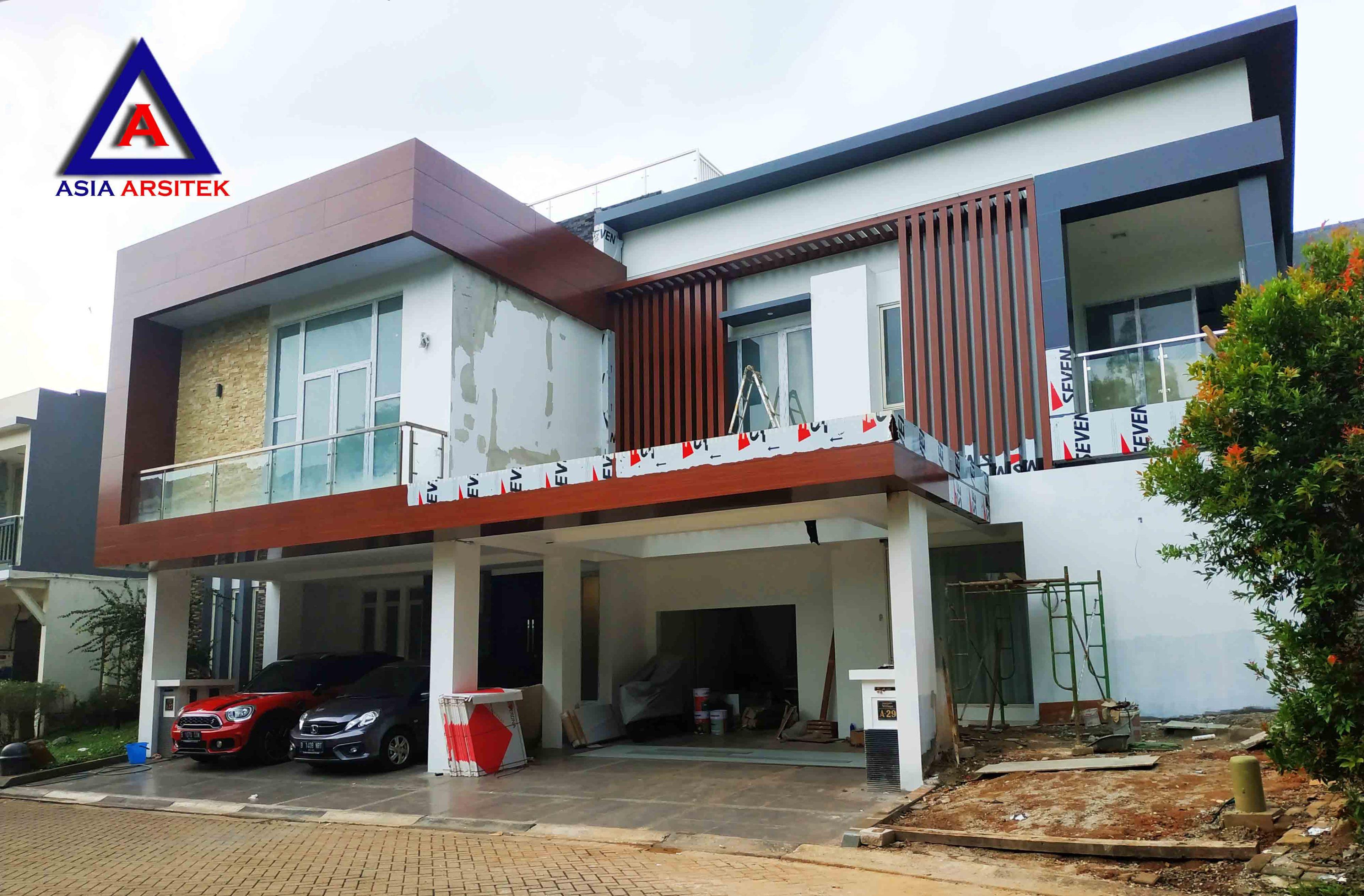 Realisasi Desain Rumah Modern Pak Ananda Di Bintaro Jaya Tangerang Selatan Kunjungan Januari 2019
