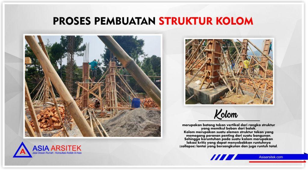 Proses pembuatan struktur kolom