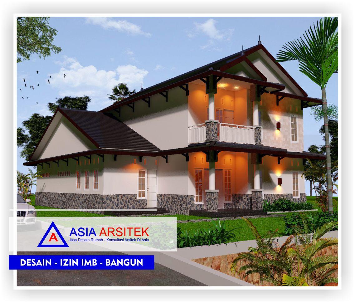 Rancangan-desain-rumah-bu-Lisda-arsitektur-belanda-2-lantai-view-1