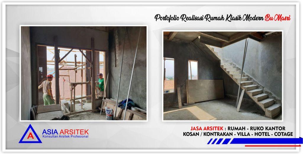 Kunjungan-realisasi-rumah-klasik-modern-3.5-lantai-bu-masri-jakarta-selatan-2