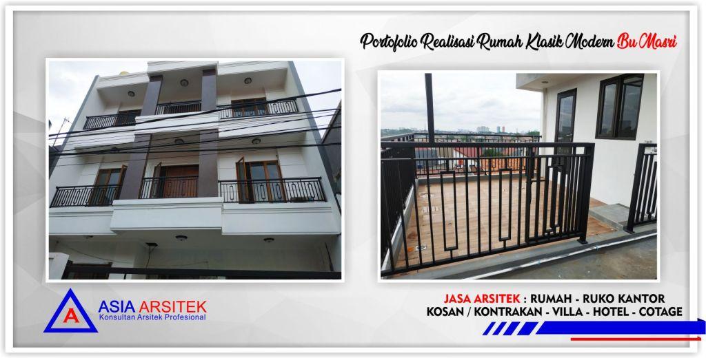 Kunjungan-realisasi-rumah-klasik-modern-3.5-lantai-bu-masri-jakarta-selatan-5