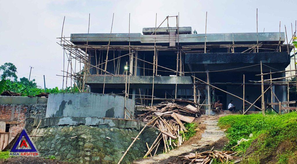 Realisasi Desain Villa Ibu Kartini Di Sentul Bogor Kunjungan Januari 2018