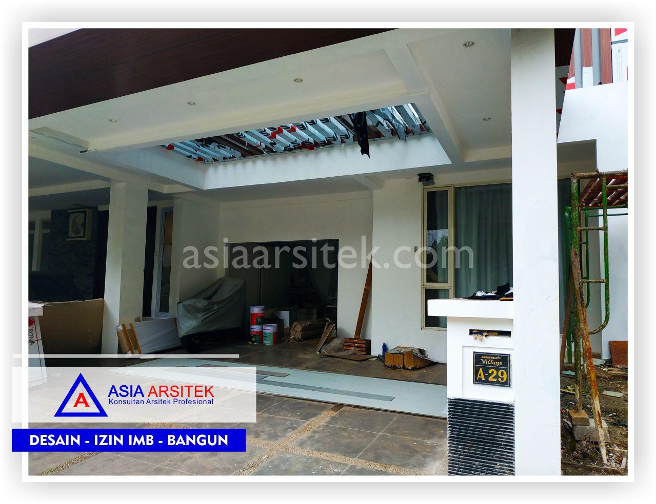 Area Carport 2 Rumah Minimalis Bpk Ananda Di Tangerang-Jakarta-Bogor-Bekasi-Bandung-Jasa Konsultan Arsitek Profesional - Desain Rumah Mewah - Arsitek Gambar Desain Rumah Klasik Mewah