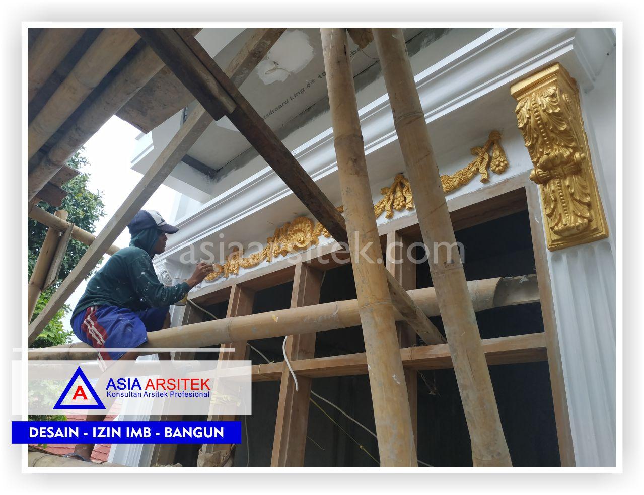 Pengerjaan Finishing Detail Rumah Klasik Mewah Bu Elisa - Arsitek Desain Rumah Minimalis Modern Di Jakarta-Tangerang-Bogor-Bekasi-Bandung-Jasa Konsultan Desain Arsitek Profesional