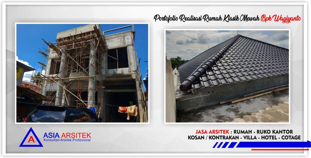 Portofolio Realisasi Gambar Desain Rumah Klasik Mewah Bpk Wagiyanto - Arsitek Desain Rumah Minimalis Modern Di Jakarta-Tangerang-Bogor-Bekasi-Bandung-Jasa Konsultan Desain Arsitek Profesional