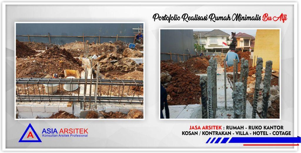 Portofolio Realisasi Rumah Minimalis Bu Alfi Di Jakarta-Bogor-Tangerang-Bekasi-Bandung-Jasa Konsultan Desain Arsitek Profesional - Desain Rumah Mewah - Arsitek Gambar Desain Rumah Klasik Mewah 2