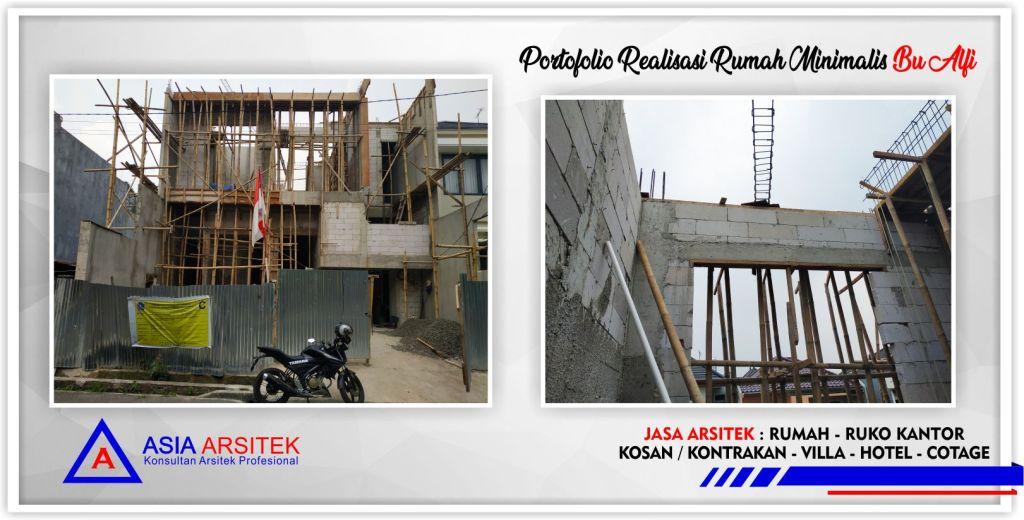 Portofolio Realisasi Rumah Minimalis Bu Alfi Di Jakarta-Bogor-Tangerang-Bekasi-Bandung-Jasa Konsultan Desain Arsitek Profesional - Desain Rumah Mewah - Arsitek Gambar Desain Rumah Klasik Mewah 5