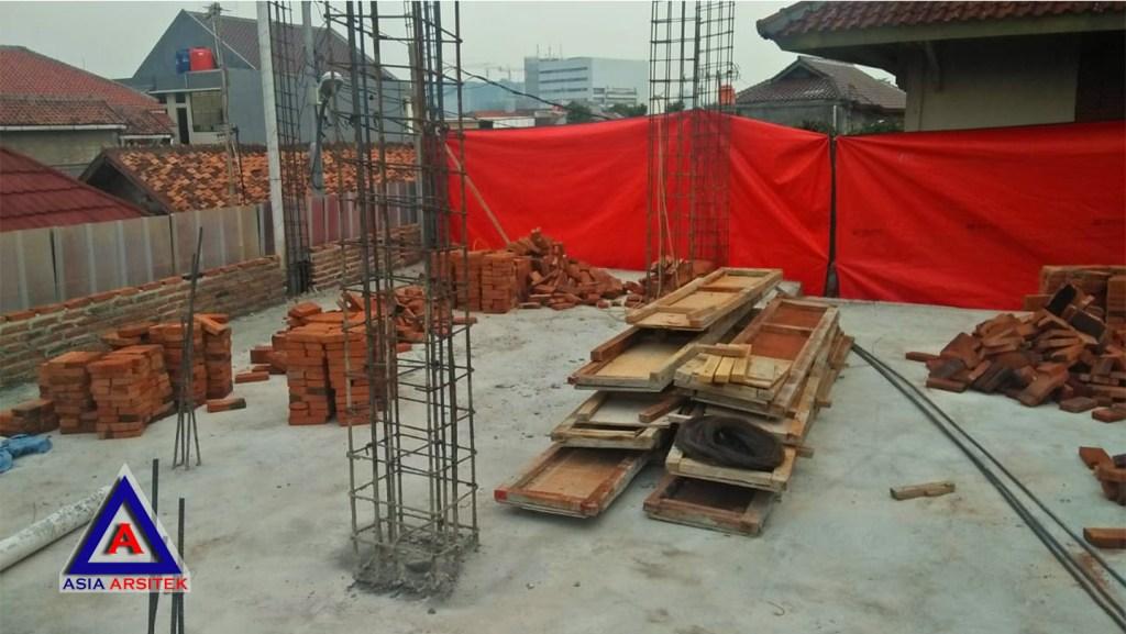 Proses Pembuatan Struktur Bangunan Jasa Desain Rumah Klasik/Classic Mewah Bu Elisa Di Jakarta Timur