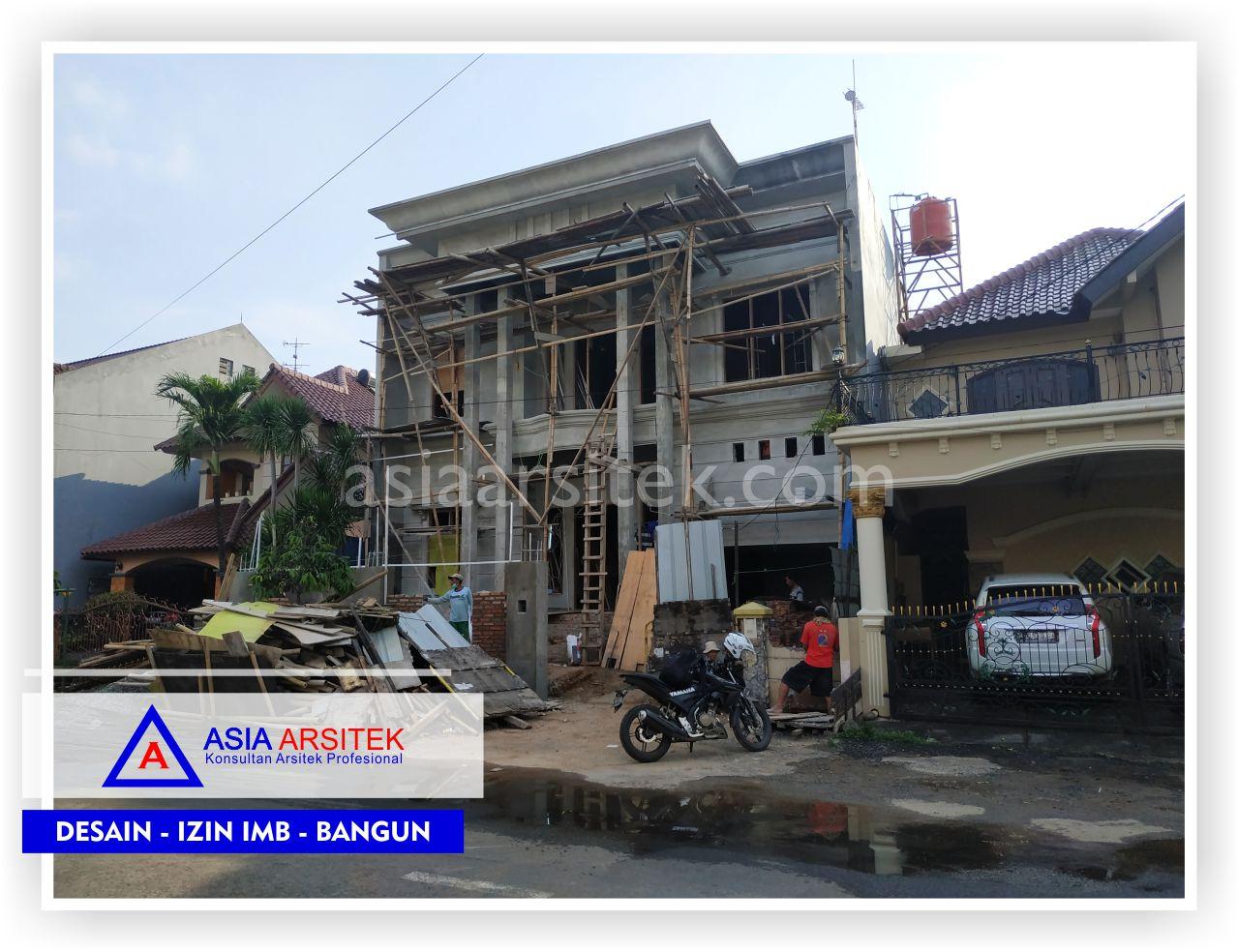 Tampak Depan Rumah Klasik Mewah Bu Maudy - Arsitek Desain Rumah Minimalis Modern Di Jakarta-Tangerang-Bogor-Bekasi-Bandung-Jasa Konsultan Desain Arsitek Profesional 4