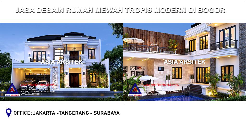 Jasa Arsitek Desain Gambar Rumah Mewah Tropis Modern Di Bogor