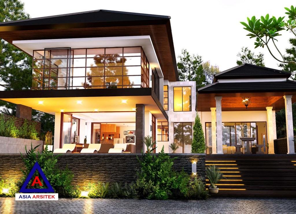 Jasa Arsitek Desain Rumah Mewah Tropis Villa Bali Di Puncak Bogor 3