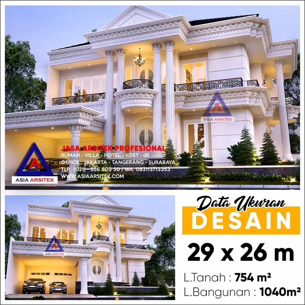 Jasa Desain Rumah Mewah 100JT di Bekasi Jawa barat