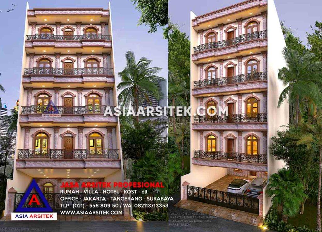 Jasa Arsitek Desain Gambar Rumah Kost 5 Lantai Mewah Di Sunter Jakarta Utara - Asia Arsitek
