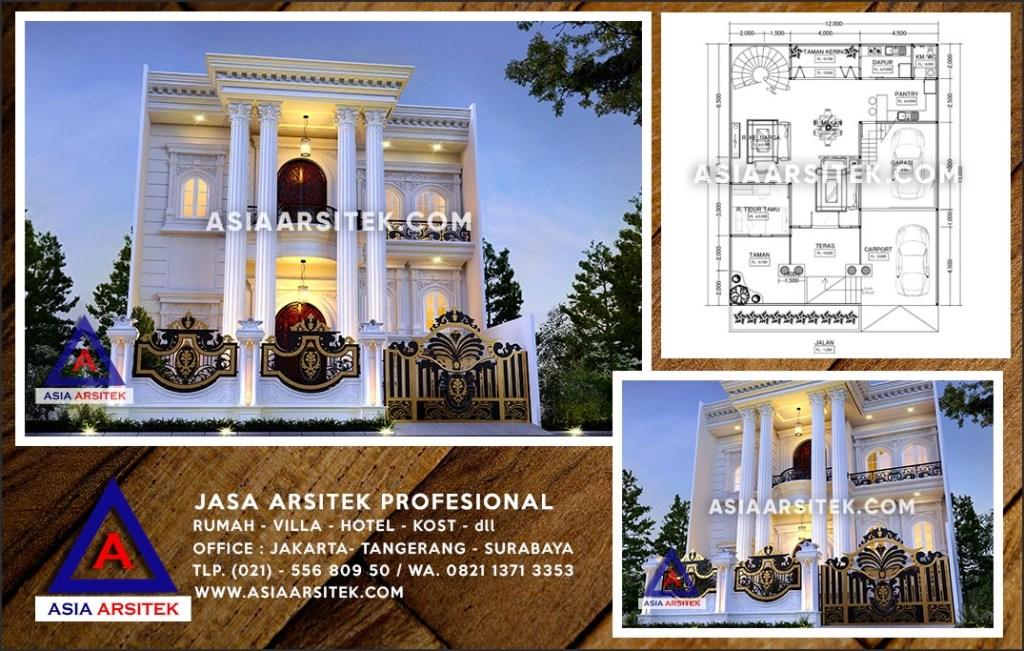 Jasa Arsitek Desain Gambar Rumah Mewah Di Bojongsari Depok