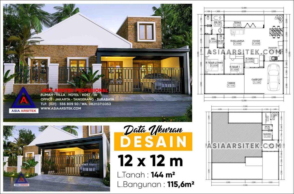 Jasa Arsitek Desain Rumah Minimalis Modern Pak Amos Bintaro Sektor 9 Tangerang Selatan