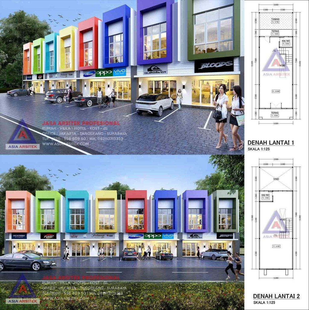 Jasa Arsitek Desain Ruko Minimalis 2 Lantai Di Kota Surabaya Jawa Timur