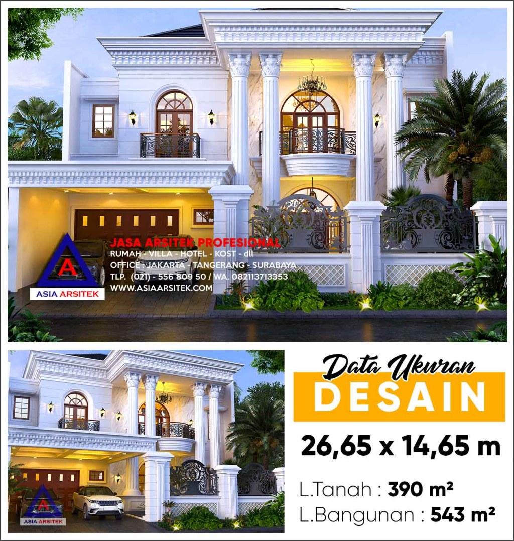 Jasa Gambar Rumah Mewah White House BSD City Tangerang Selatan
