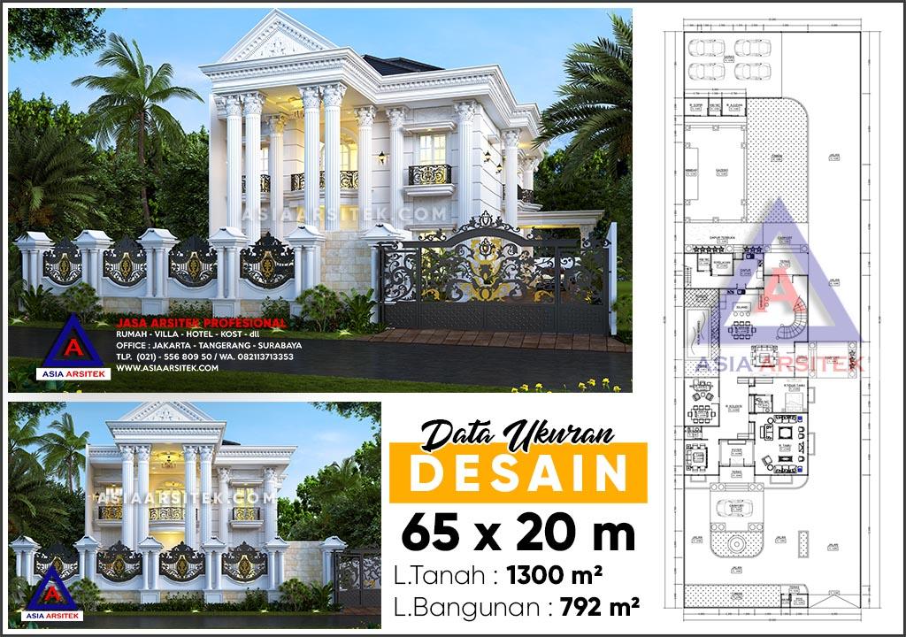 Jasa Arsitek Desain Rumah Klasik Mewah 2 Lantai Riau Sumatera