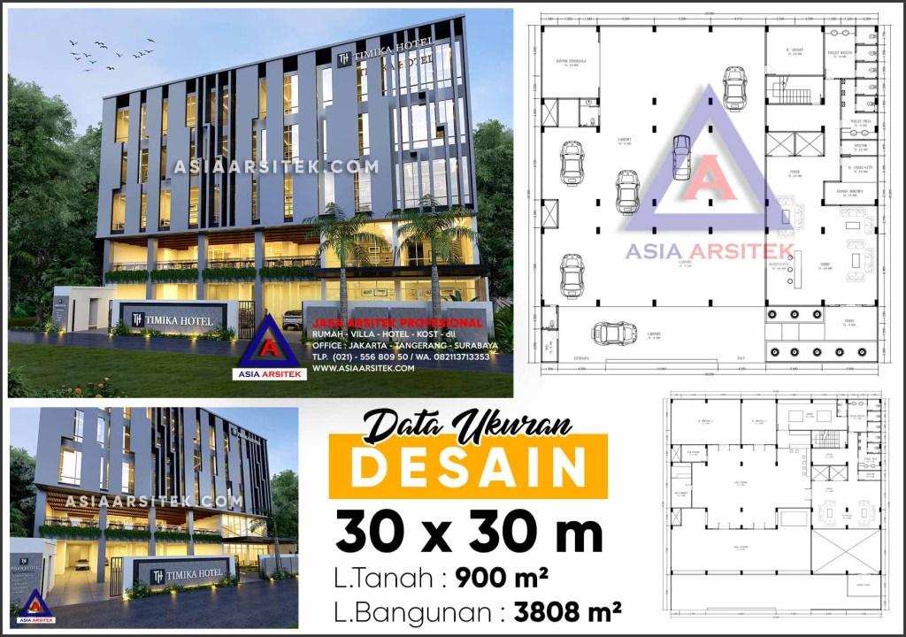Jasa Desain Arsitek Hotel 5 Lantai Minimalis Di Kota Timika Papua