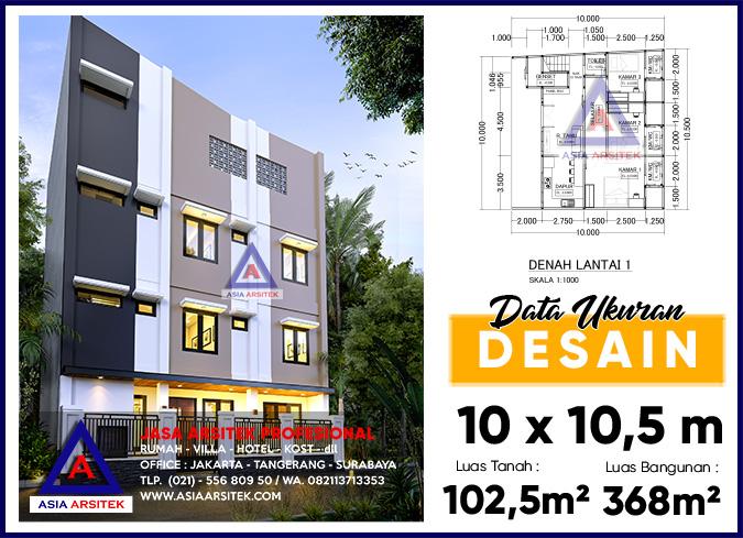 Jasa Arsitek Desain Rumah Kost 4 Lantai Di Palmerah Jakarta Barat