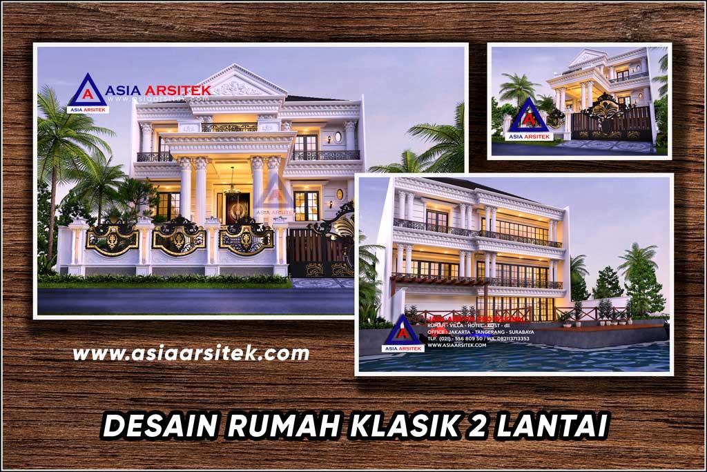 Desain Gambar Rumah Klasik 3 Lantai Ukuran Lahan 40x15 Meter