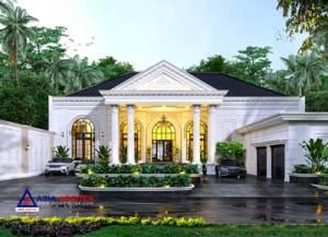 Jasa Arsitek Desain Rumah Mewah Classic 1 Lantai di Kota Depok Jawa Barat