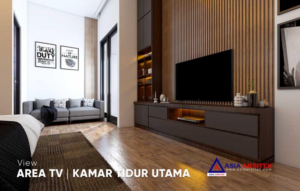 Desain Interior Ruang Tamu Ruang Keluarga Kamar Tidur Rumah Minimalis di Jakarta Timur