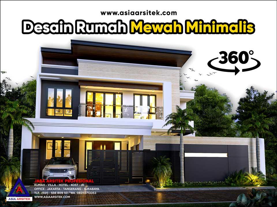 Review Desain Rumah Mewah Minimalis Modern 2 Lantai