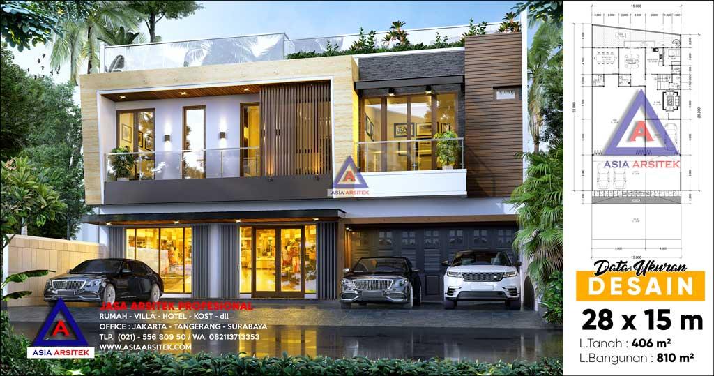 Jasa Arsitek Desain Rumah Mewah Minimalis Kontemporer di Sumbawa Barat Nusa Tenggara Barat