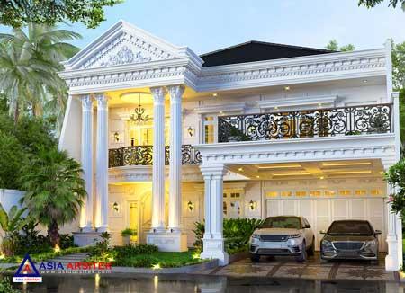 Jasa Arsitek Desain Rumah Classic Mewah 2 Lantai di Tambun Bekasi