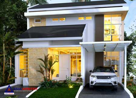 Jasa Arsitek Desain Rumah Minimalis 2 Lantai di Serpong Natura City BSD