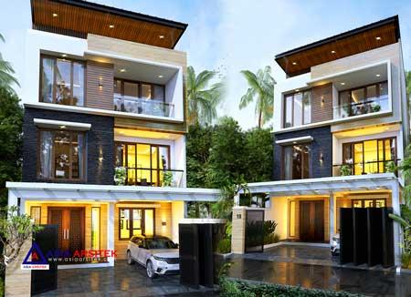 Jasa Arsitek Desain Rumah Minimalis Modern 3 Lantai di Duri Kepa Jakarta Barat