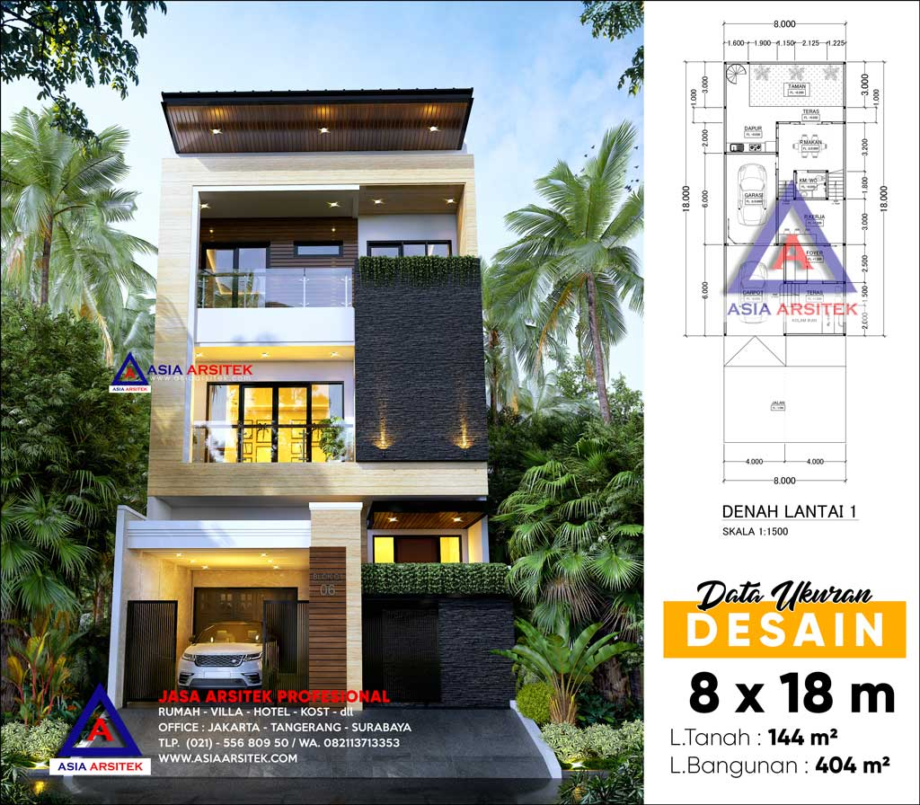 Jasa Arsitek Desain Rumah Minimalis Modern 3 Lantai di Pulo Gadung Jakarta Timur